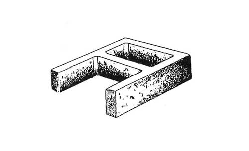 Concrete Block Precision 12x4x16 Open End Standard