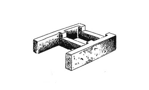 Concrete Block Precision 12x4x16 Open End Bond Beam