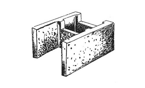 Concrete Block Precision 12x8x16 Open End Bond Beam