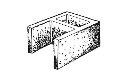 Concrete Block Precision 12x8x16 Open End Standard