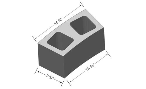 Concrete Block Precision 8in Radius Block