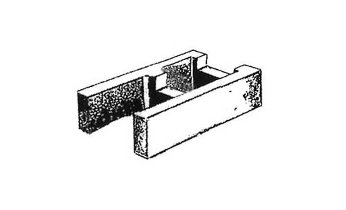 Concrete Block Precision 8x4x16 Open End Bond Beam