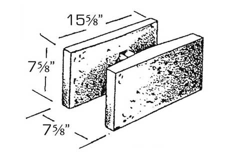 Concrete Block Precision 8x8x16 Double Open End Bond Beam