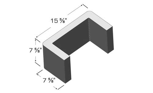 Concrete Block Precision 8x8x16 Double Bullnose C