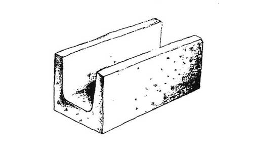 Concrete Block Precision 8x8x16 Solid Bottom Lintel