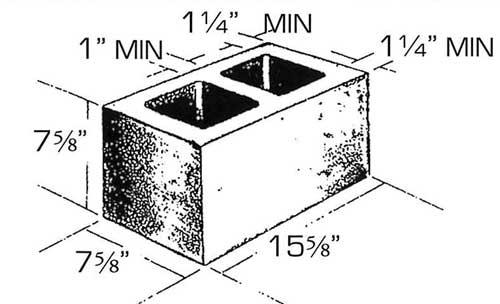 precision concrete block sizes shapes rcp block brick. Black Bedroom Furniture Sets. Home Design Ideas