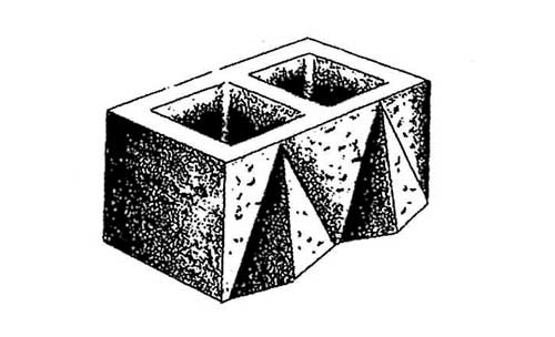 Concrete Block Precision Double Diamond Custom Face