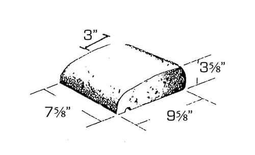 Concrete Block Precision 4in Sill Block