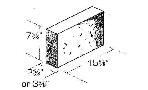 Concrete Block Precision Veneer Solid 4in and 3in high