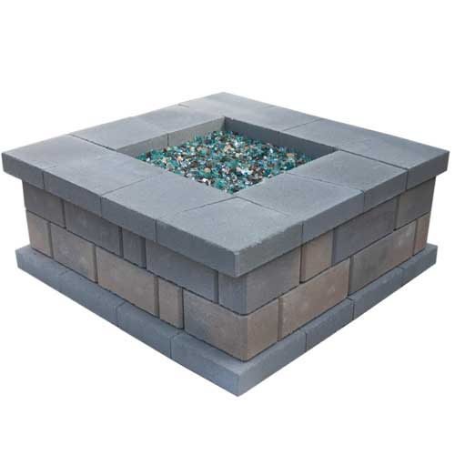 Stonegate Square Outdoor Fire Pit Kit