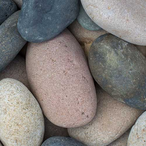 Mixed Beach Cobble Large Landscaping Rocks