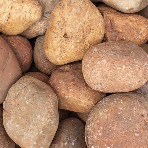 Sienna Cobble Large Landscaping Rocks
