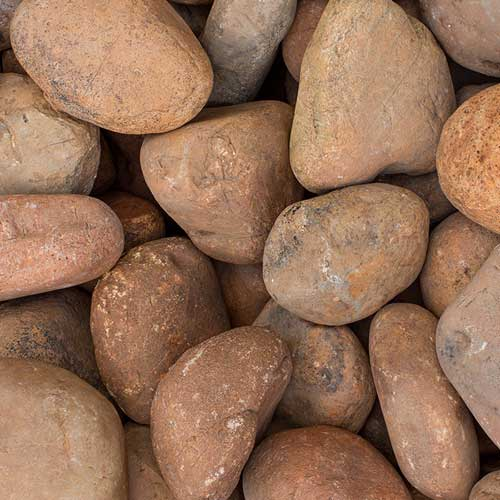 Sienna Cobble Small Landscaping Rocks