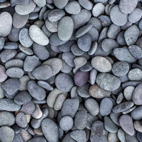 Black Beach Buttons Decorative Ground Cover Rock