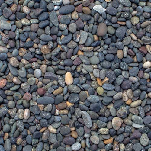 Mixed Beach Pebble Extra Small Decorative Ground Cover Rock