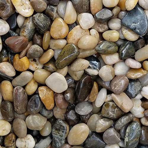 Polished Pebbles Landscaping Rocks Rcp Block Brick
