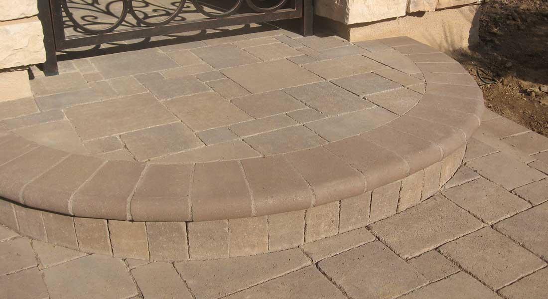 Bullnose Concrete Paver Stair Tread