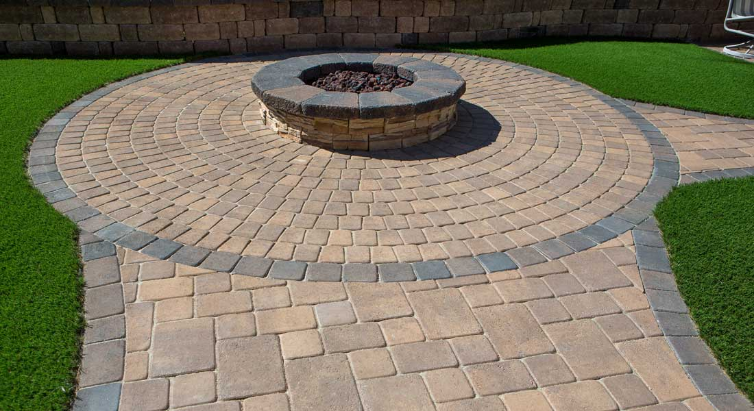 Bella Vista Circle Pattern Concrete Pavers Rcp Block Brick