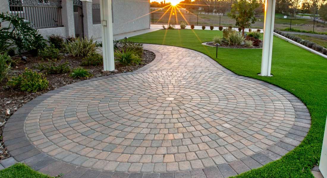 Bella Vista Circle Pattern Concrete, Concrete Paver Patio Patterns