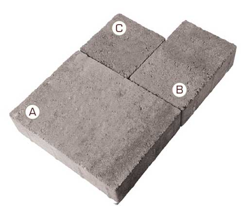 Piatto Interlocking Concrete Paver pieces
