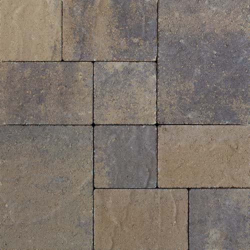 Stonetop Yellow Brown Concrete Pavers