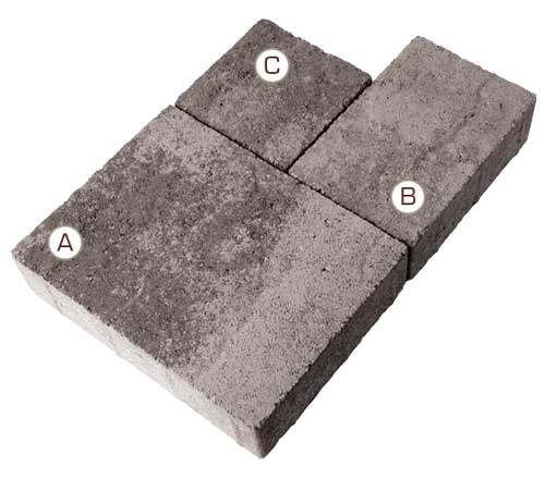 Stonetop Interlocking Concrete Paver pieces