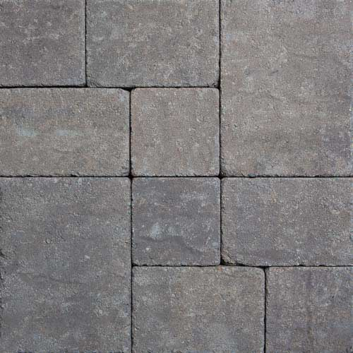 Stonetop Tumbled Brownstone Concrete Pavers