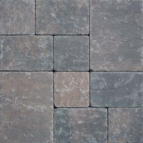 Stonetop Tumbled Charcoal Brown Concrete Pavers