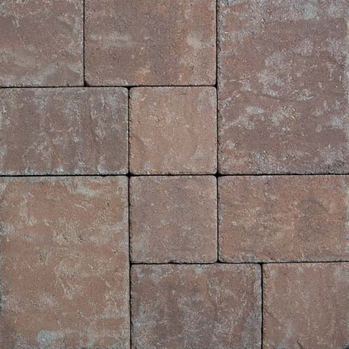Stonetop Tumbled Terra Cotta Brown Concrete Pavers