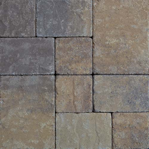 Stonetop Tumbled Yellow Brown Concrete Pavers
