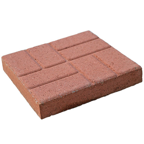 16in Brickface Stepping Stone Red