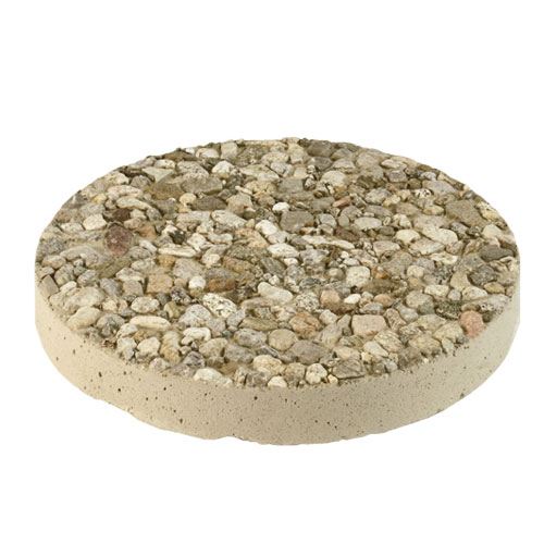 Round Aggregate Stepping Stone Natural