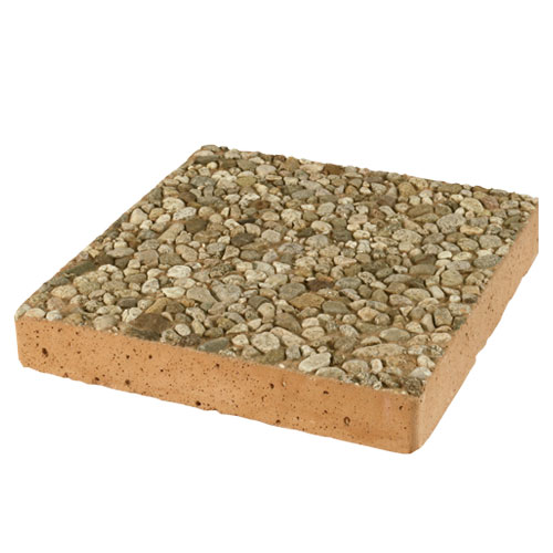 Square Aggregate Stepping Stone Tan