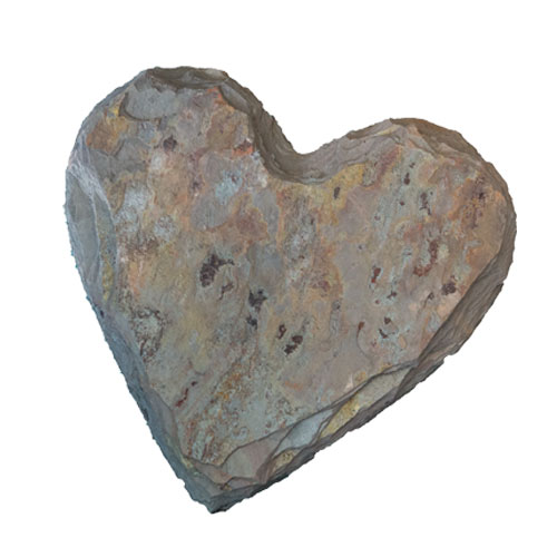 Heart Shaped Natural Stone Stepping Stone Multi Classic