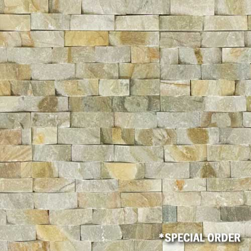 Stone Veneer Panels Desert Gold Basketweave