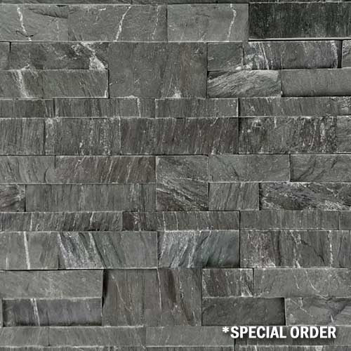 Stone Veneer Panels Marine Black Schist Natural