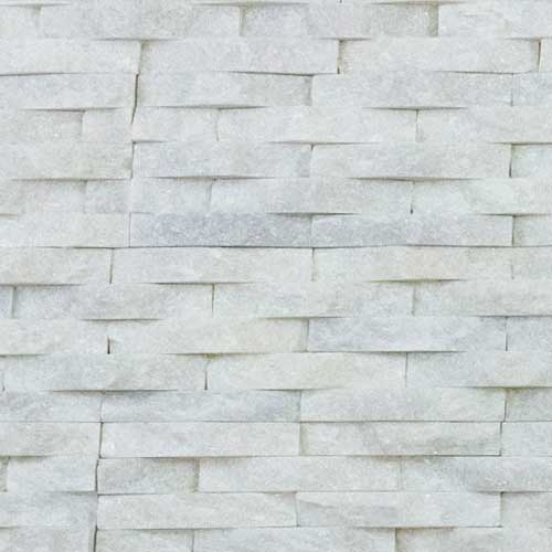 Stone Veneer Panels White Quartzite Basketweave