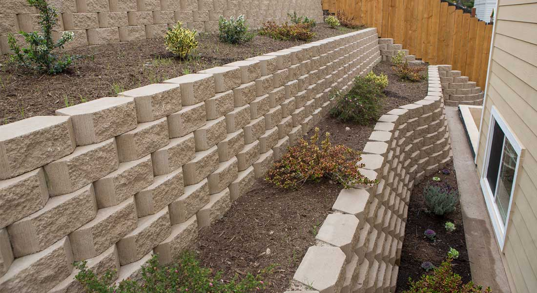 Brooklyn Park Retaining Wall and Garden Wall Construction