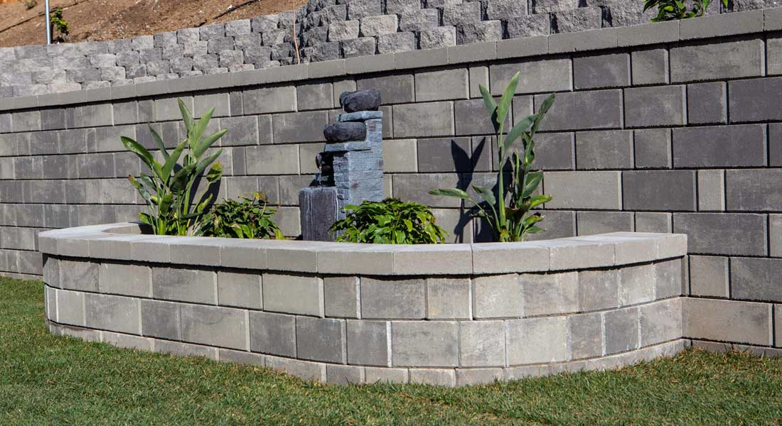 Keystone Retaining Wall Blocks Stonegate Contemporary Planter Wall
