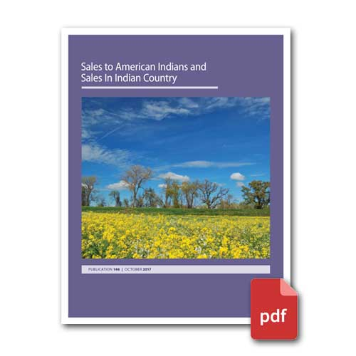 Sales to American Indians and Sales in Indian Country