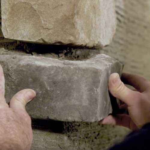 How To Install Stone Veneer Rcp Block Brick