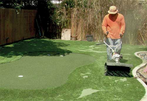 Power Brooming Artificial Turf